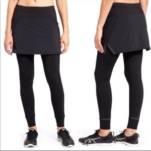 Athleta | Black Powder Peak 2 in 1 Skirt Leggings